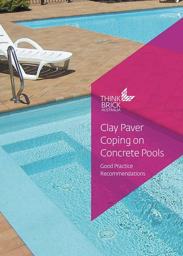 Clay Paver Coping On Concrete Pools