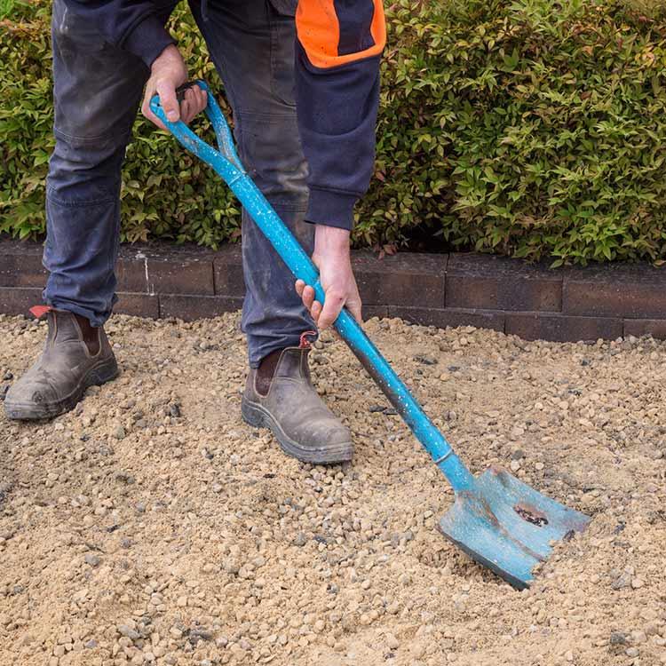 Laying Pavers Step 1 Prepare Ground