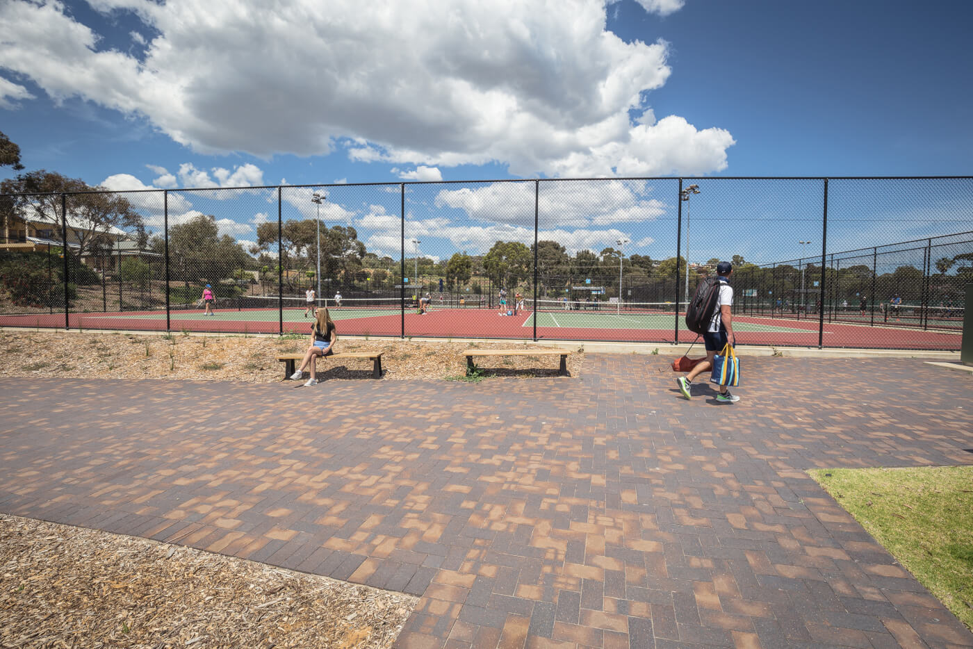 Littlehampton Mahogany Pavers At Glenelg District Tennis Club 7 Rd