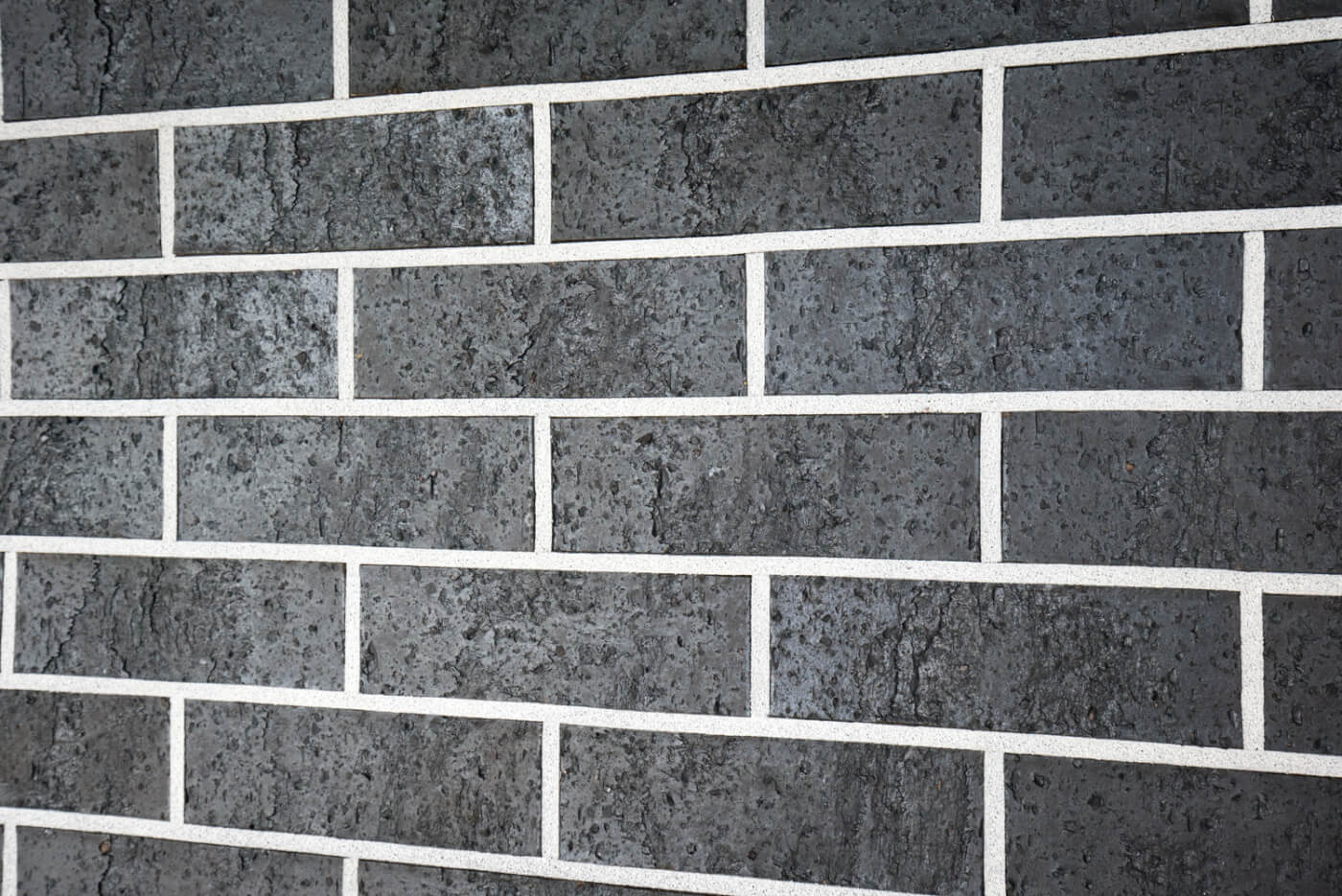 Midnight Black Brick Wall Reduced Size 14