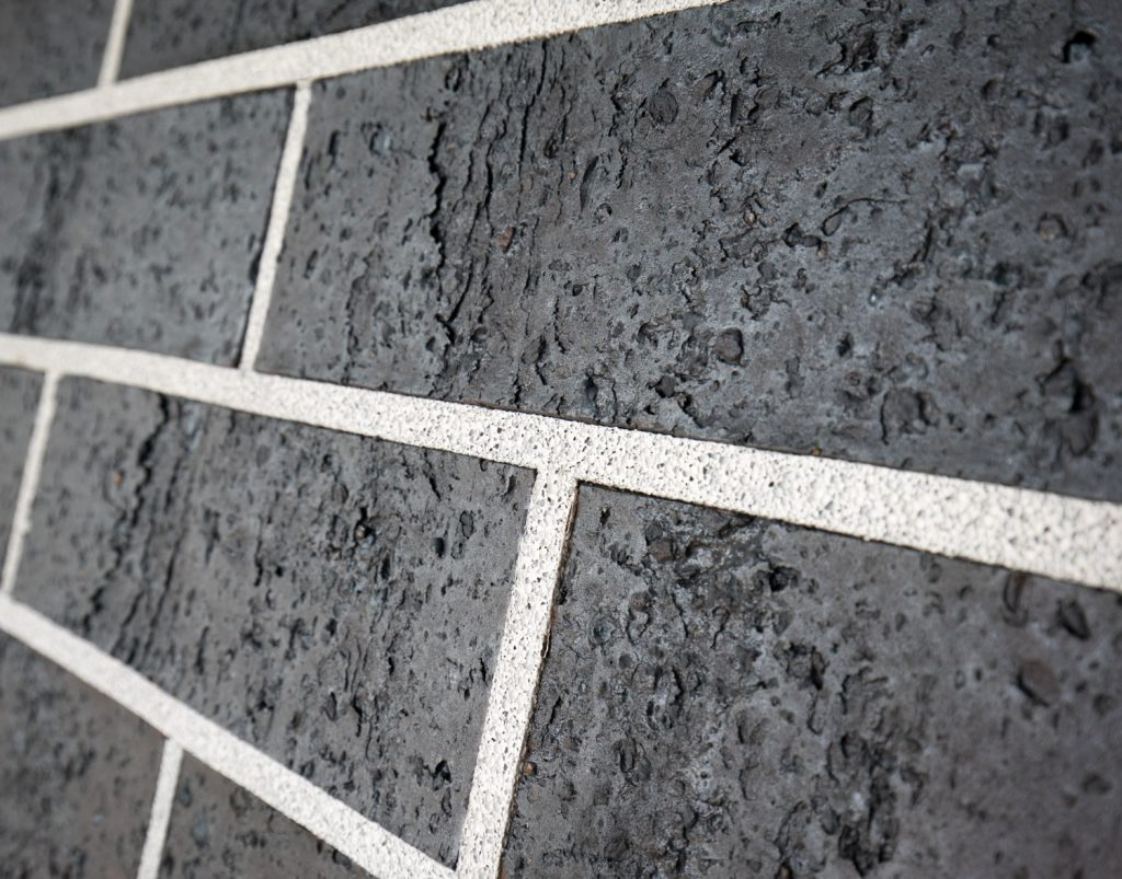 Midnight Black Brick Wall Reduced Size 15