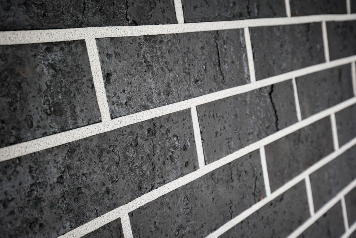 Midnight Black Brick Wall Reduced Size 3