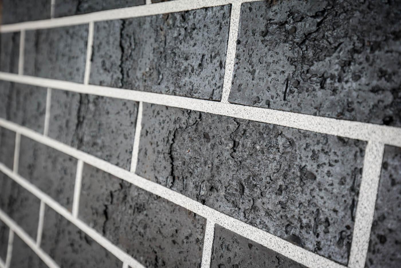 Midnight Black Brick Wall Reduced Size 5