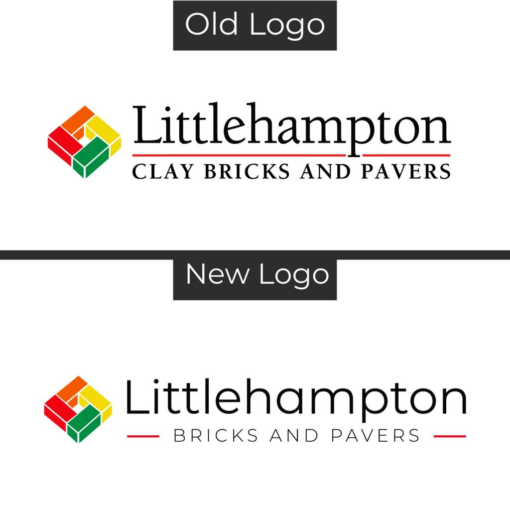 Old Logo New Logo Comparison Littlehampton Bricks2