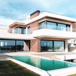 Blush Brick Modern Mansion
