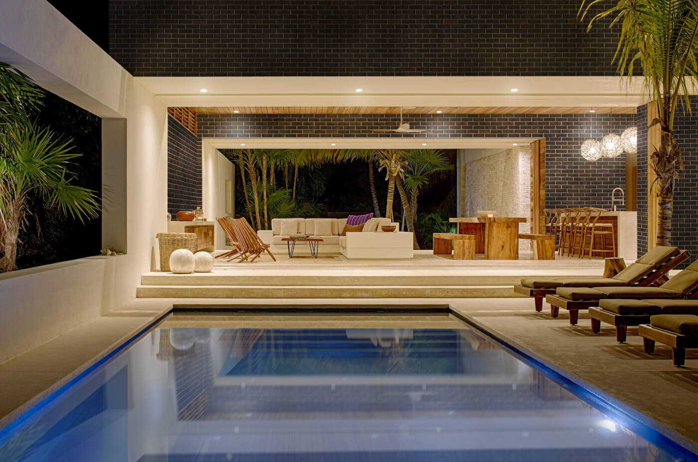 Coachhouse Brick home with indoor pool