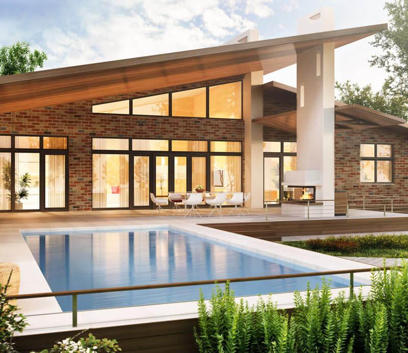 Maclaren Brick Architectural Luxury Home