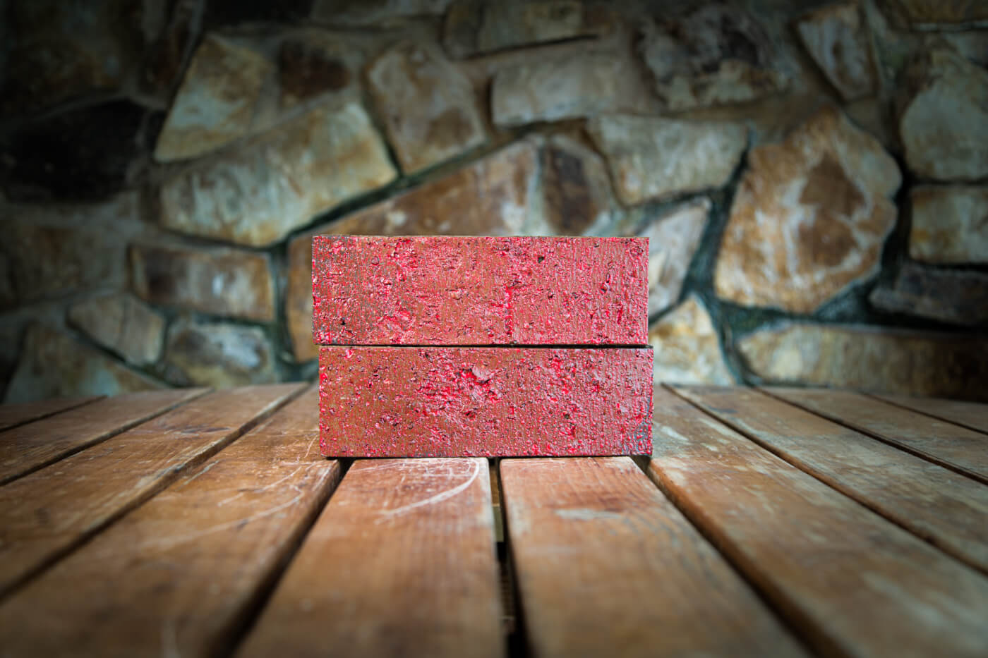 Lava Red Glazed Brick Rs 1 3