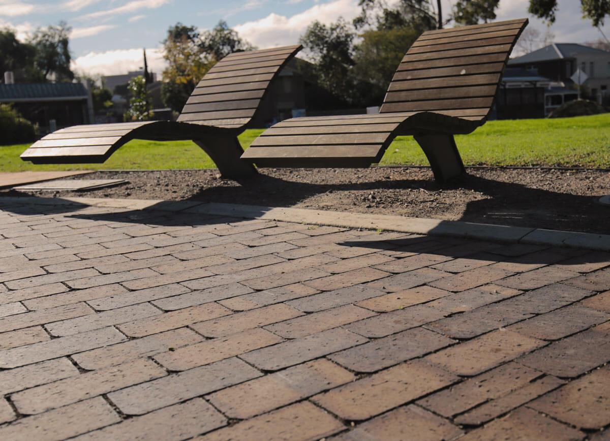 Mahogany Smartpave Permeable Pavers Walkerville Council Park Australia