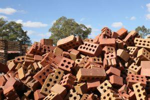 Broken Bricks For Recycling