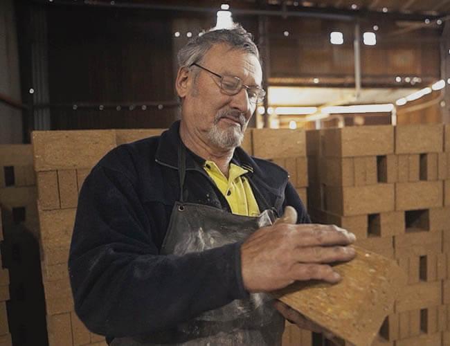 Checking Bricks For Quality