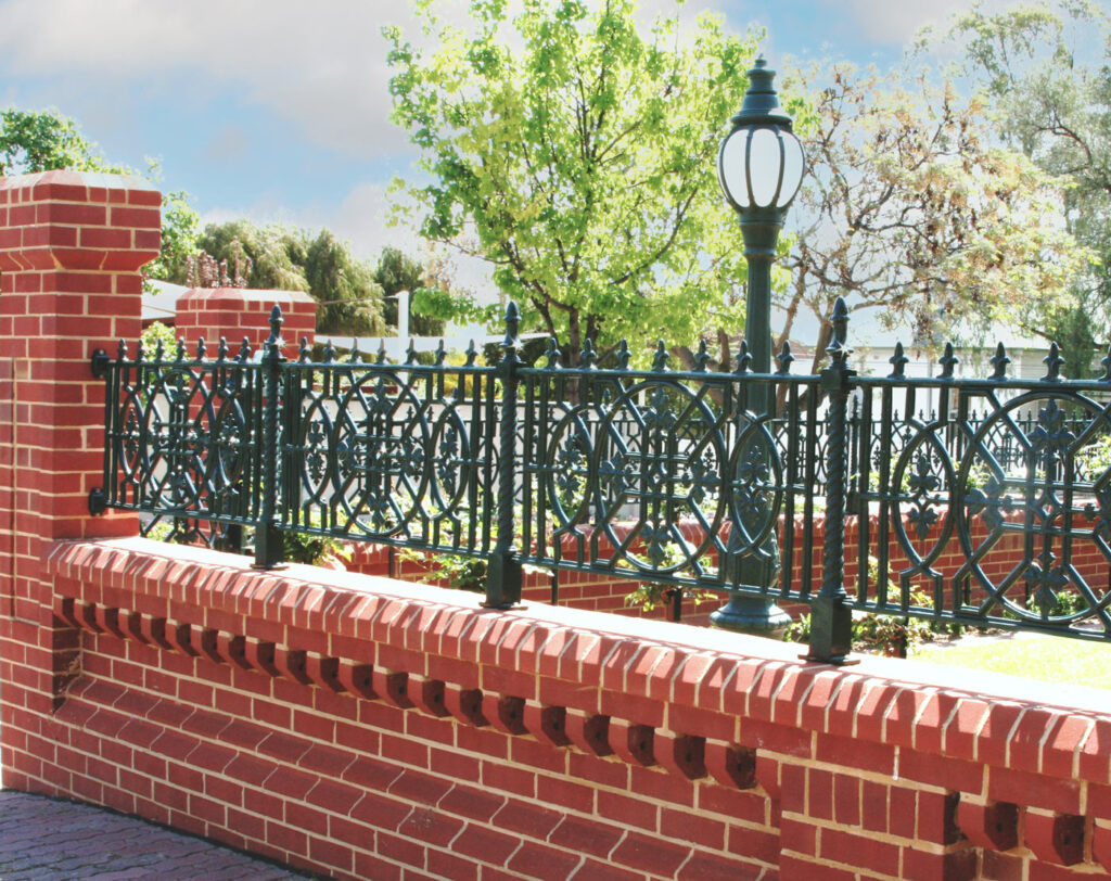 Ornate Heritage Style Brick Wall With Special Shapes